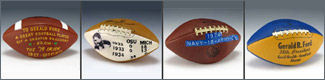 Collage - Gerald Ford's Footballs
