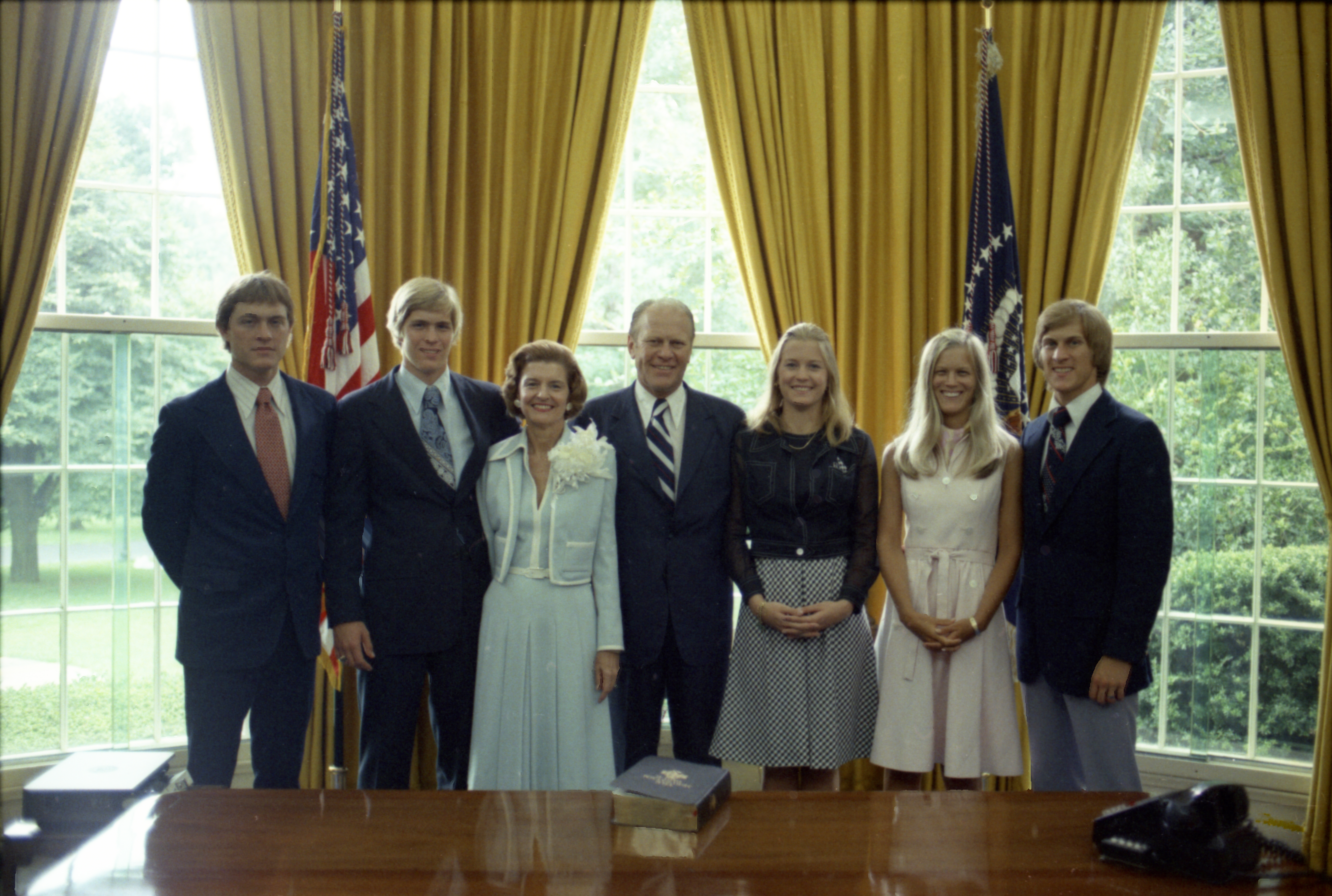 Ford Family in the Oval Office - 1974