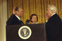 Gerald R. Ford being sworn in as the 38th President of the United States, August 9, 1974