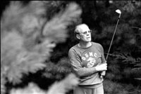 Golfing on a Labor Day week-end trip to Camp David. Thurmont, Maryland.  September 2, 1974.