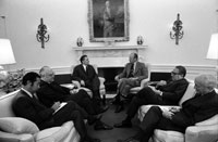 President Ford and Soviet Foreign Minister Andrei Gromyko hold discussions in the Oval Office on September 20, 1974