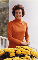Official portrait of First Lady Betty Ford.