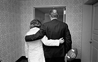 President and Mrs. Ford return to the President's Suite at the Bethesda Naval Hospital