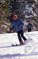 President Ford skiing at Vail, CO
