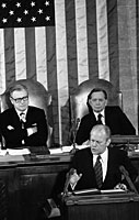 President Ford addresses the nation on the State of the Union. January 15, 1975
