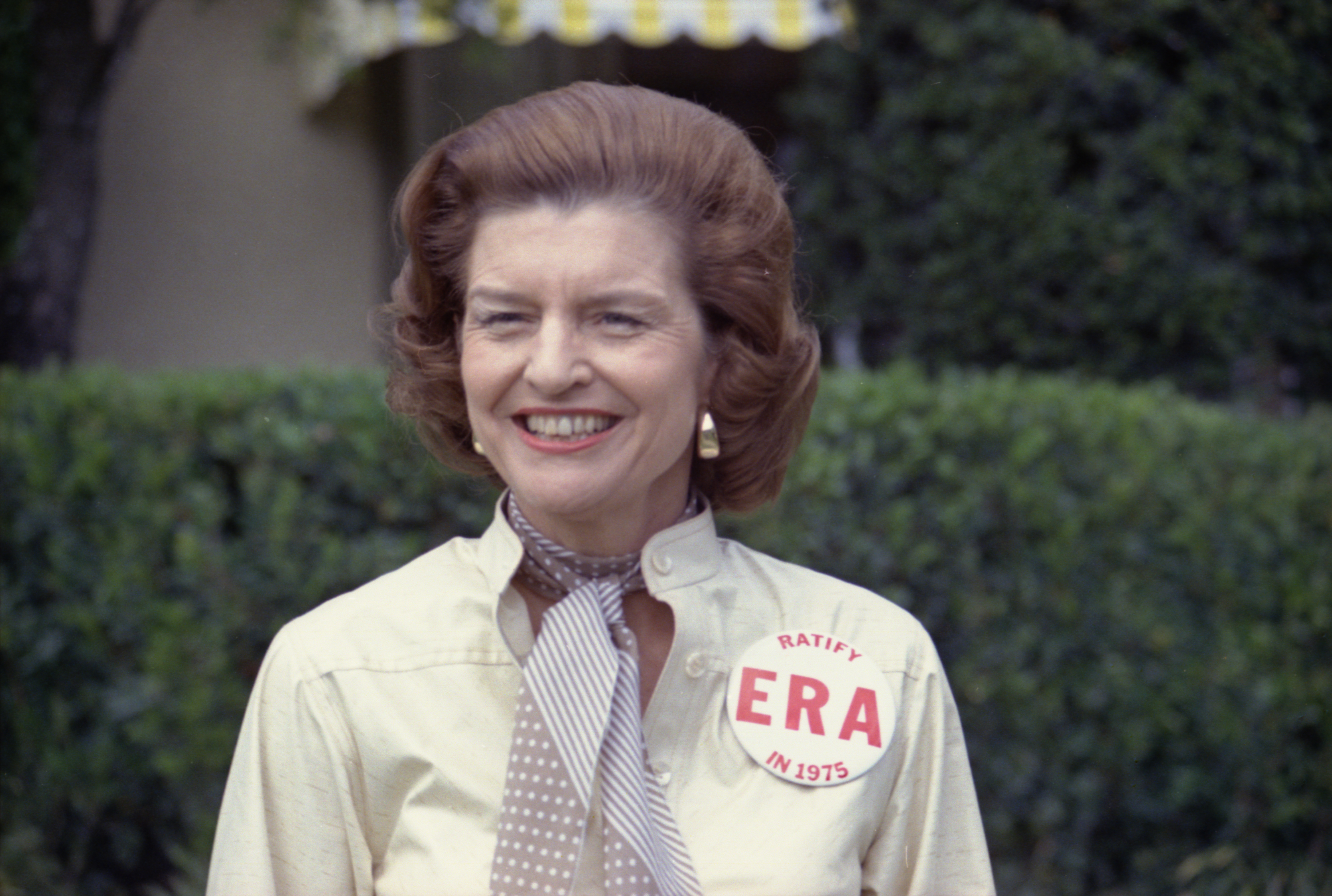 Betty Ford with ERA pin