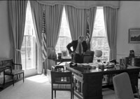 President Ford at his Oval Office desk.   March 25, 1975.