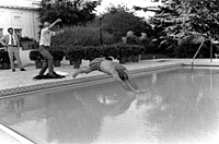 Susan Ford assists her father as he dives into the new White House