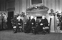 President Ford with Supreme Court Chief Justice Warren Burger and Associate Supreme Court Justice John Paul Stevens