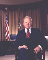 Second official portrait of President Gerald R. Ford.