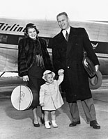 Gerald R. Ford with Mrs. Ford and Michael at the Grand Rapids Airport