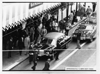 Photograph taken outside the St. Francis Hotel at about the exact time Sara Jane Moore attempted to assassinate President Gerald R. Ford.  September 22, 1975.