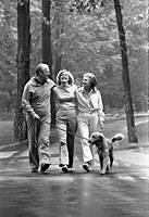 President and Mrs. Ford with Susan and Liberty at Camp David