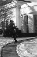 President Ford departs the Oval Office for an event at the National War College.  January 18, 1977.