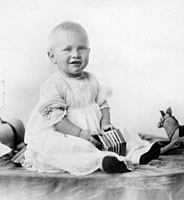 Portrait of Gerald R. Ford, named Leslie Lynch King, Jr. until 1916, around ten months old