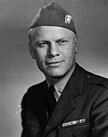 Gerald R. Ford as a naval officer