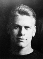 Gerald R. Ford, Jr., in football jersey