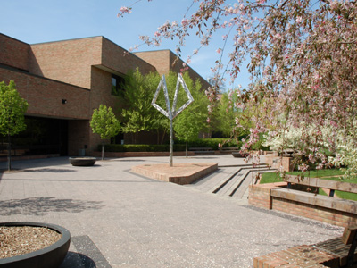 library courtyard patio