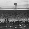 "[Personnel viewing the detonation of Project ""Open Shot"", Nevada.], 04/1952"