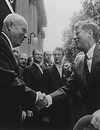 Khrushchev and Kennedy Shaking Hands, 06/03/1961 - 06/04/1961