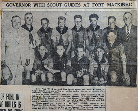 Image result for fred green mackinac island scouts photo