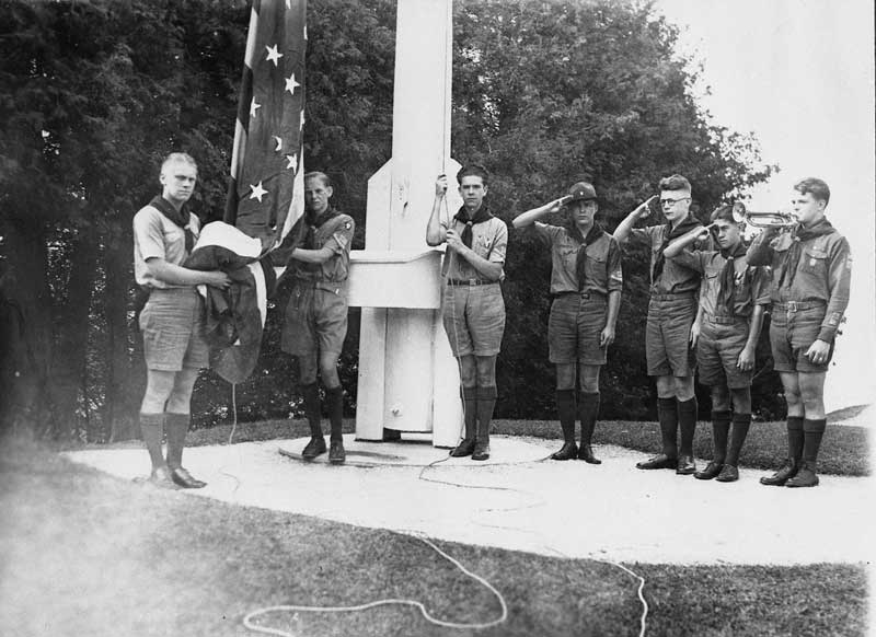 Ford with Scouts