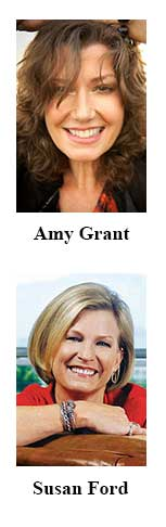 Amy Grant and Susan Ford