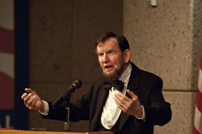 Jim Getty as Abe Lincoln